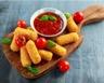Mozzarella panée et son coulis de tomates