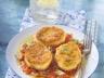 Mozzarella panée sur coulis de tomates