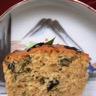 Muffin salé aux algues marinées à la sauce de soja