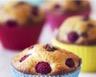 Muffins aux framboises et pépites de chocolat