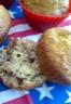 Muffins aux noix raisins secs et liqueur de caramel