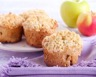Muffins pomme-camembert et crumble de biscuits apéritif