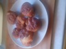 Muffins pommes-miel-chocolat