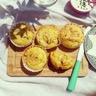 Muffins salés au roquefort olives vertes & noix