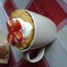 Mug cake aux lardons et tomate cerise