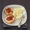 Noisette de Saumon écossais Label Rouge panée au chorizo salade de fenouil et pignons