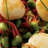 Noix de coquilles Saint Jacques étuve de légumes et beurre de vanille
