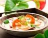 Noix de saint jacques crevettes et champignons au curry