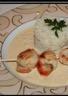Noix de Saint-Jacques sauce échalote en brochette
