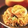 Noix de saint jacques sur lit de pommes au curry