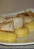 Noix de St Jacques rôties sur pomme de terre