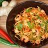 Nouilles chinoises au paprika fumé crevettes marinées au citron vert