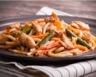 Nouilles chinoises au poulet gingembre et légumes