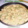 Nouilles chinoises aux légumes et au poulet