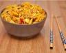 Nouilles sautées au poulet caramélisé poivron et soja