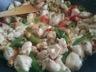 Nouilles sautées au poulet et noix de cajou