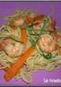 Nouilles sautées aux crevettes et légumes (diététique)