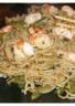 Nouilles sautées aux crevettes oignon et poivron vert