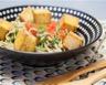Nouilles soba aux tomates au pesto de roquette et au tofu grillé