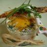 Oeuf cocotte épinard truite rose sacristain parmesan pavot