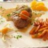 Osso bucco orange aux carottes glacée miel de safran