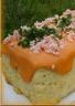 Pain de chou-fleur à l'emmental et sauce aurore