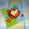 Pain perdu de cake au thé vert et poêlée de fraise à la vanille et badiane