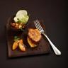 Pain perdu de foie gras aux pommes et pain d'épice