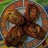 Pain perdu fourré au poulet et légumes