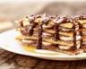 Pancake façon tiramisu à la banane confiture de lait et chocolat