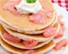 Pancakes à la rhubarbe