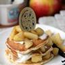 Pancakes au Yaourt Brassé Vanille Les 2 Vaches et pommes caramélisées
