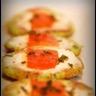 Pancakes de courgette fromage frais et saumon