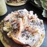 Pancakes purée de lentilles et saumon poché