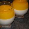 Panna cotta à la noix de coco et son coulis de mangue