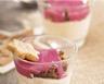 Panna cotta à la vanille au pain d'épices et à la framboise