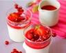 Panna cotta au lait de coco et aux fruits rouges