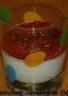 Panna cotta vanillée au coulis de framboises de Pupuce