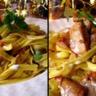 Pâtes au safran foie gras et girolles