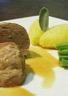 Paupiette de veau au Marsala et sauge écrasée de pommes de terre