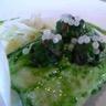 Pavé de cabillaud au caviar d'escargots fondue de fenouil