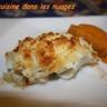 Pavé de Cabillaud au Crumble Coco et purée de patate douce