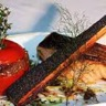 Pavé de saumon rôti à la braise