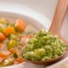 Pesto de chèvre-boîte au basilic minestrone de légumes