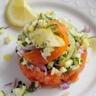Petit tartare de saumon fumé tout acidulé aux deux citrons !