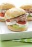 Petits burgers au concombre fromage et rillettes de jambon Bordeau Chesnel