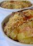 Petits gratins de pommes de terre au pâté et échalotes