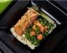 Petits pois carottes à la crème de cumin et son saumon fumé