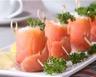 Petits roulés de saumon fumé au fromage