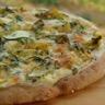 Pizza blanche aux courgettes
